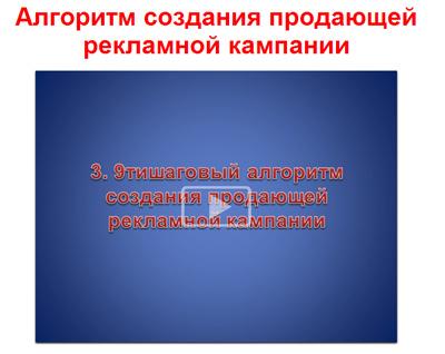Смотрите алгоритм создания продающей рекламной кампании в Яндекс Директ