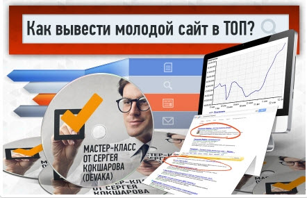 Бесплатный мастер-класс Сергея Кокшарова (Devaka) - Как вывести молодой сайт в ТОП?