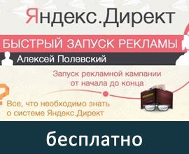 Быстрый запуск рекламы в Яндекс.Директ - бесплатный видео-курс от Алексея Полевского