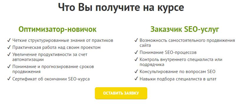 SEO Интенсив - Лучшее обучение SEO для новичков